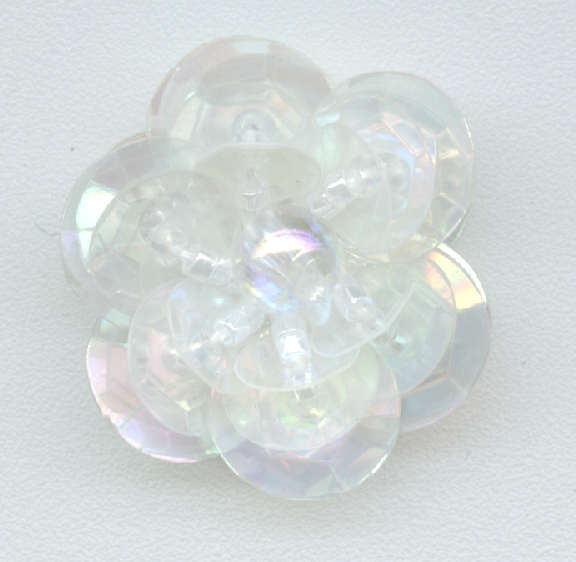 Clear Sequin Flower - Three Layer - Delica Beads